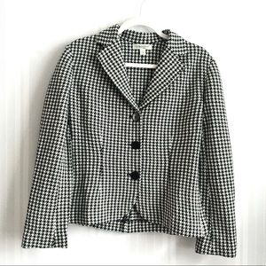 Coldwater Creek Houndstooth Blazer Jacket Small